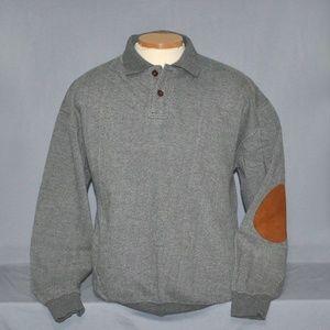 Orvis Sweatshirt w/ Leather Elbow Patches Men's L